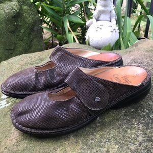Finn Comfort brown Mary Jane mule made in Germany